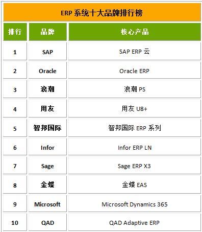 International famous ERP company 1